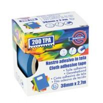 Nastro adesivo telato TPA blu 200 38mmx2,7mt Eurocel 016614314