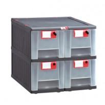 Cassettiera in PP 4 cassetti Mopla 104 MOP104.GR