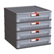 Cassettiera in PP 4 cassetti Mopla 104bis MOP104B.GR
