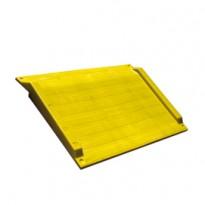 Rampa di accesso 75x125,6x7,5cm Giallo BAR0806