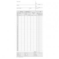 Scheda Orologio Presenze mensile 22,5x10,4cm 275gr. DU158000000 DU158000000 - Conf da 100 pz.