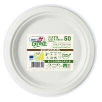 50 Piatti frutta 170mm BIODEGRADABILI Dopla Green art.7703 07703
