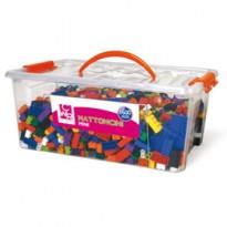 Bauletto 1600 mattoncini da costruzione Micro in colori assortiti CWR 12334/3