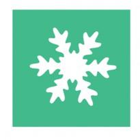 Fustella con motivo Fiocco di neve dim. 25mm DECO 10423