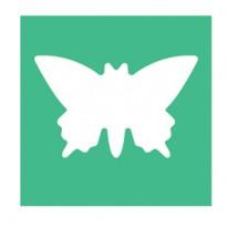 Fustella con motivo Farfalla dim. 25mm DECO 10642
