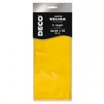 Busta 5 fogli carta velina 20gr 50x76cm giallo DECO 12283/02