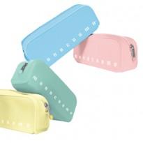 Bustina silicone Soft Touch 80x200x60mm colori assortiti pastel Monocromo Pigna 0229903-00 - Conf da 12 pz.