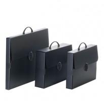 Valigetta polionda Every Line Total Black 36,5x56,5cm dorso 5,5cm Balmar PF14235TB