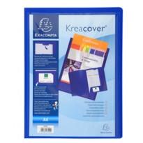 Cartella di presentazione in PP 2 alette blu. Kreacover A4 Exacompta 43502E