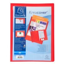 Cartella di presentazione in PP 2 alette rosso Kreacover A4 Exacompta 43503E