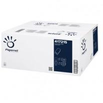 Pacco 150 asciugamani piegati a V goffrato a onda Papernet 417215 - Conf da 20 pz.