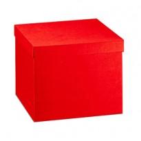 Scatola c/coperchio 30x30x24cm seta rosso Scotton 13697C - Conf da 2 pz.