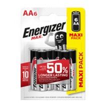 Blister 6 pile stilo AA - Energizer Max E301533800