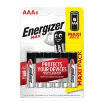 Blister 6 pile ministilo AA A - Energizer Max E301532700