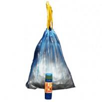 15 Sacchi azzurro 50x60cm 30Lt 13 con maniglie Rolsac 10189