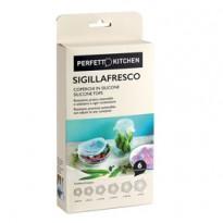 Set 6 Coperchi in silicone Sigillafresco Perfetto 29013
