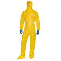 Tuta di protez. da rischio chimico DT300 Tg XXL giallo Deltachem DT300XX