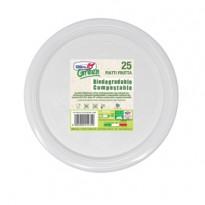 25 Piatti frutta 170mm BIODEGRADABILI Mater-bi Dopla Green art. 45001 45001