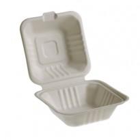 50 Vaschette Hamburger box 15x15cm Take away BIO Leone Q2022