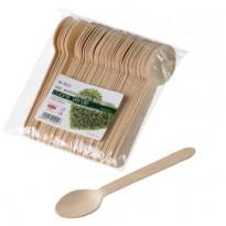 48 Cucchiai in legno 16cm Leone Q1012