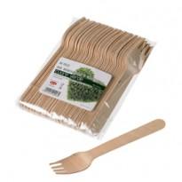 48 Forchette in legno 16cm Leone Q1013