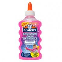 Flacone 177 ml Colla Glitterata ROSA Liquida Slime Elmers Newell 2077249 - Conf da 3 pz.