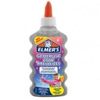 Flacone 177 ml Colla Glitterata ARGENTO Liquida Slime Elmers Newell 2077255 - Conf da 3 pz.