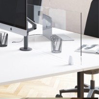 Schermo protettivo da scrivania TIMY H61xL120cm con ganci per fissaggio MHTIMYPL120