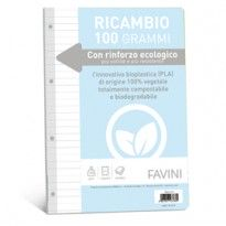 Ricambi c/rinforzo ecologico f.to A4 100gr 40fg 1 rigo Favini A477404