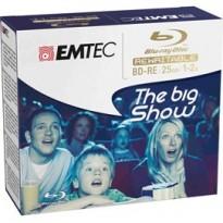 BD-RE EMTEC 25GB 1-2x JEWEL CASE GIFBOX (kit 5pz) ECOBDRE2552JC