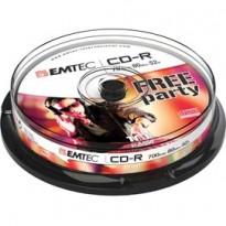 CD-R EMTEC 80MIN/700MB 52x SPINDLE (kit 10pz) ECOC801052CB