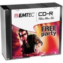 CD-R EMTEC 80MIN/700MB 52X SLIM CASE (kit 10pz) ECOC801052SL