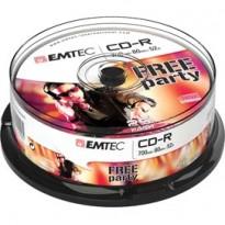 CD-R EMTEC 80MIN/700MB 52x SPINDLE (kit 25pz) ECOC802552CB