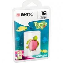 MEMORIA USB2.0 M335 16GB Animalitos Lady Turtle ECMMD16GM335