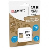 MICRO SDXC EMTEC 128GB CLASS 10 GOLD + CON ADATTATORE ECMSDM128GXC10GP