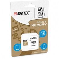 MICRO SDXC EMTEC 64GB CLASS 10 GOLD + CON ADATTATORE ECMSDM64GXC10GP