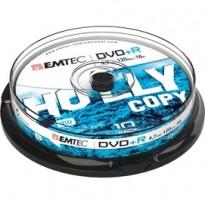 DVD+R EMTEC4,7GB 16X SPINDLE (kit 10pz) ECOVPR471016CB