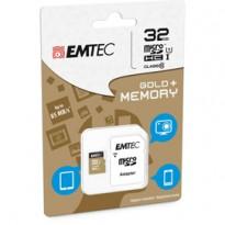 MICRO SDHC EMTEC 32GB GOLD + CON ADATTATORE ECMSDM32GHC10GP