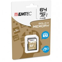 SDXC EMTEC 64GB CLASS 10 GOLD + ECMSD64GXC10GP