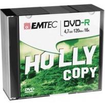 DVD-R EMTEC 4,7GB 16X SLIM CASE (kit 10pz) ECOVR471016SL
