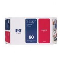 CARTUCCIA A GETTO DINCHIOSTRO HP N.80 MAGENTA 350ML C4847A