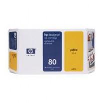 CARTUCCIA A GETTO DINCHIOSTRO HP N.80 GIALLO 350ML C4848A