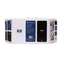 CARTUCCIA A GETTO DINCHIOSTRO HP N.80 NERO 350ML C4871A