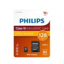 PHILIPS MICRO SDXC CARD 128GB CLASS 10 INCL. ADAPTER PHMSDMA128GBXCCL10