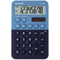 Calcolatrice tascabile EL 760R, 8 cifre, 2 colori design, azzurro - blu EL760RBBL