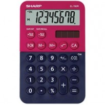 Calcolatrice tascabile EL 760R, 8 cifre, 2 colori design, rosso - blu EL760RBRB