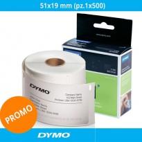 Etichette originali Dymo LabelWriter - removibili - 51x19 mm - bianco - S0722550 (pz.1x500)