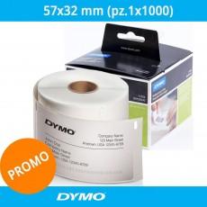 Etichette originali Dymo LabelWriter - removibili - 57x32 mm - bianco 11354 - S0722540 (pz.1x1000)