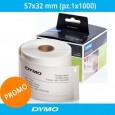 Etichette originali Dymo LabelWriter - removibili - 57x32 mm - bianco - S0722540 (pz.1x1000)