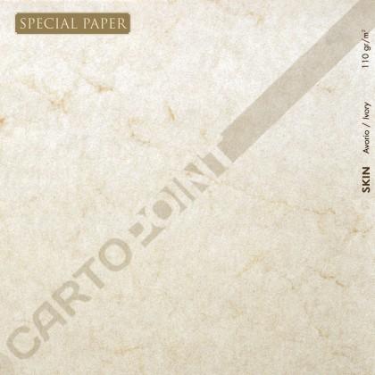 SPECIAL PAPER Carta SKIN AVORIO A4 - cm. 21x29,7 110 gr/mq (scatola da 100 fogli )
